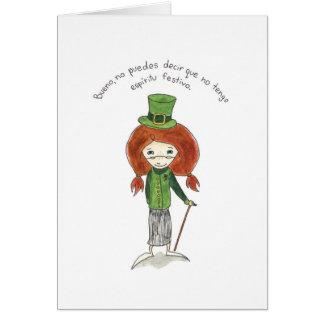 El Dia de San Patricio tarjeta Greeting Card