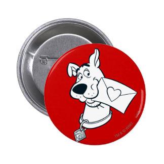 El día de San Valentín 02 de Scooby Pin Redondo De 2 Pulgadas