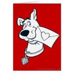 El día de San Valentín 02 de Scooby Tarjeta De Felicitación