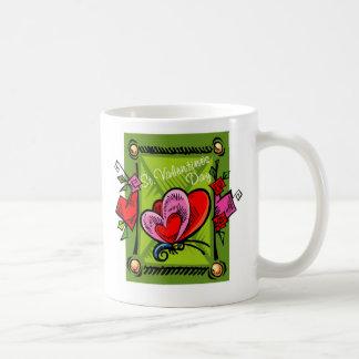 El día de San Valentín 2 del St -- Verde 2 Tazas