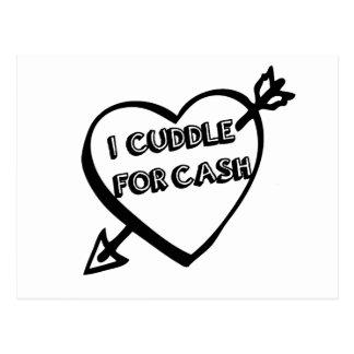 El día de San Valentín - abrazo para el EFECTIVO Tarjeta Postal