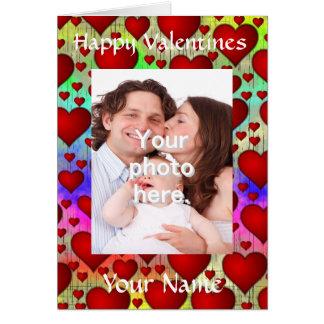 El día de San Valentín adaptable personalizado Tarjeta De Felicitación