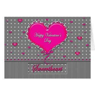El día de San Valentín - amor - gris/rosa/lunar Tarjeta De Felicitación
