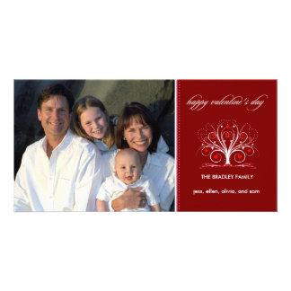 El día de San Valentín - árbol de los amores Tarjeta Fotografica Personalizada