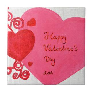 El día de San Valentín Azulejo Cuadrado Pequeño