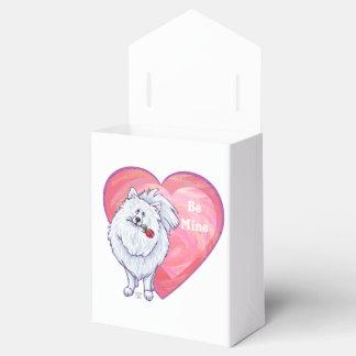 El día de San Valentín blanco de Pomeranian Cajas Para Regalos