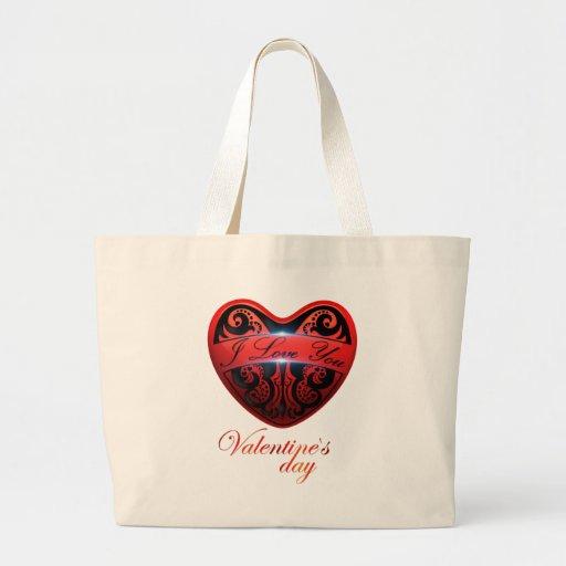 El día de San Valentín Bolsas Lienzo