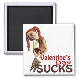 el día de San Valentín chupa al chica triste Imán De Nevera