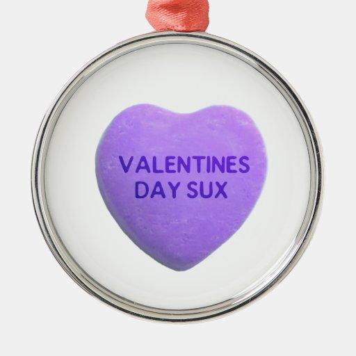 El día de San Valentín chupa el corazón púrpura Ornamente De Reyes