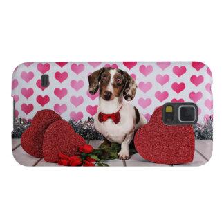 El día de San Valentín - compinche - Dachshund Carcasa Galaxy S5