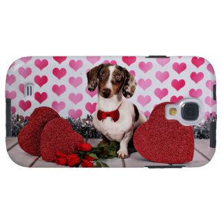 El día de San Valentín - compinche - Dachshund Funda Galaxy S4