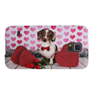 El día de San Valentín - compinche - Dachshund Funda Galaxy S5