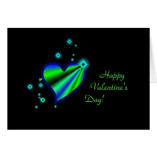 El día de San Valentín - corazón del arco iris con Tarjeta De Felicitación