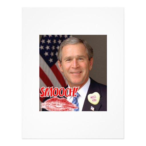 """El día de San Valentín de George Bush Folleto 8.5"""" X 11"""""""