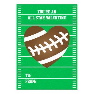 El día de San Valentín de la fan de deportes del Tarjetas De Visita Grandes