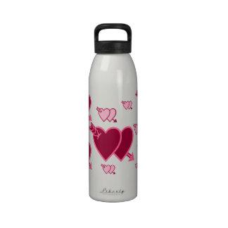 El día de San Valentín de la flecha de dos Cupid d Botella De Beber