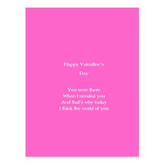 El día de San Valentín de la mamá y del papá Tarjeta Postal