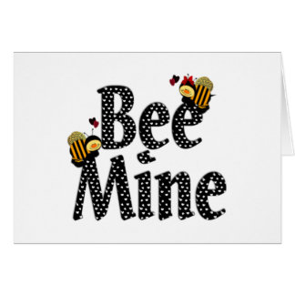 El día de San Valentín de la mina de la abeja Felicitación