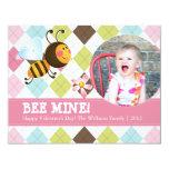 El día de San Valentín de la mina el | de la abeja Invitacion Personalizada