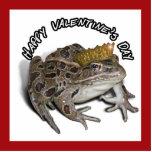 El día de San Valentín de príncipe For de la rana Escultura Fotográfica