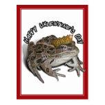 El día de San Valentín de príncipe For de la rana Tarjetas Postales