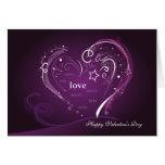 El día de San Valentín de Purple Heart Tarjetas