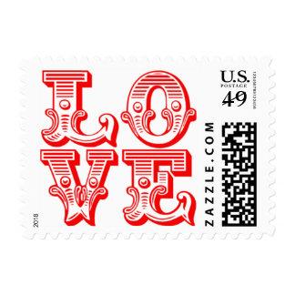 El día de San Valentín de RSVP de las invitaciones Timbres Postales