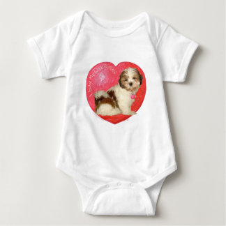 El día de San Valentín de Shih Tzu Body Para Bebé