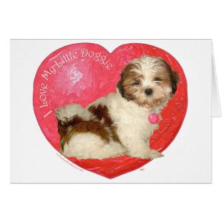 El día de San Valentín de Shih Tzu Tarjeta De Felicitación