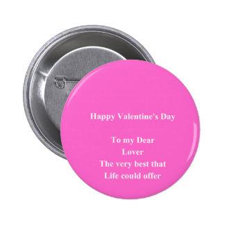 El día de San Valentín del amante Pin