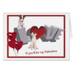 El día de San Valentín del amor adolescente de Jac Tarjetón