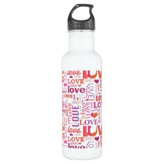 El día de San Valentín del amor Botella De Agua De Acero Inoxidable