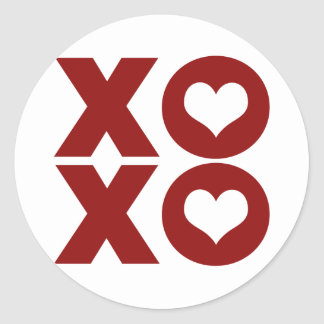 El día de San Valentín del amor de XOXO Pegatina Redonda