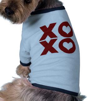 El día de San Valentín del amor de XOXO Camiseta Con Mangas Para Perro