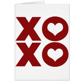 El día de San Valentín del amor de XOXO Tarjeta De Felicitación