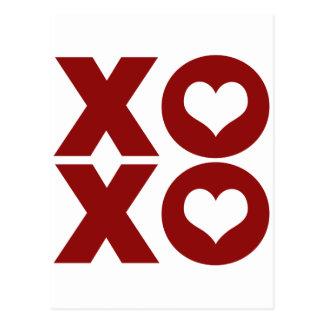 El día de San Valentín del amor de XOXO Tarjetas Postales