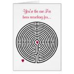 El día de San Valentín del amor del laberinto Tarjeton