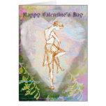 El día de San Valentín del ballet que ata el zapat Felicitación
