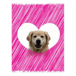 El día de San Valentín del corazón del golden Postal
