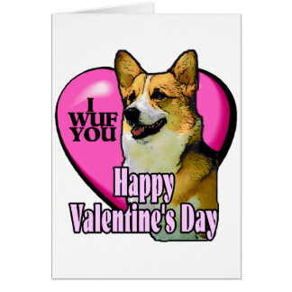El día de San Valentín del Corgi Galés Tarjeta De Felicitación