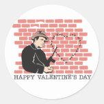 El día de San Valentín del gángster Pegatina Redonda