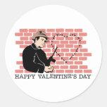 El día de San Valentín del gángster Etiquetas Redondas