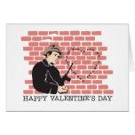 El día de San Valentín del gángster Tarjeta De Felicitación