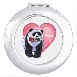 El día de San Valentín del oso de panda Espejos Maquillaje