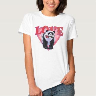 El día de San Valentín del oso de panda Remeras