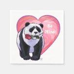 El día de San Valentín del oso de panda Servilleta Desechable