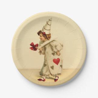 El día de San Valentín del payaso del vintage Platos De Papel