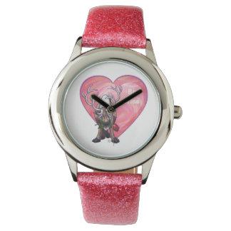 El día de San Valentín del reno Reloj