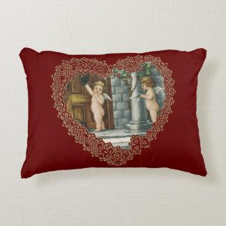El día de San Valentín del Victorian del vintage, Cojín