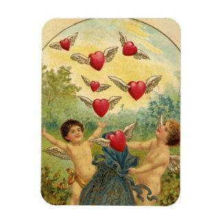 El día de San Valentín del Victorian del vintage, Imanes Flexibles